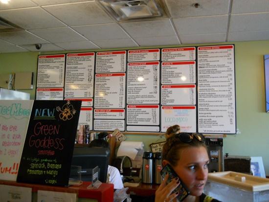 ハワイのボガーツカフェ、店内の様子
