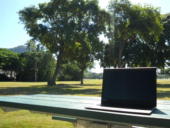 カピオラニ公園とX1 Carbon
