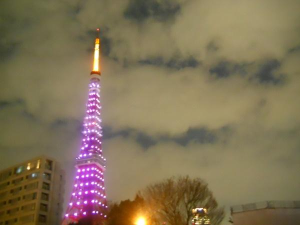 サクラサク。ピンク色の東京タワー