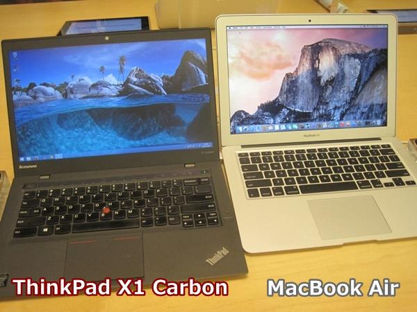 春から大学生、ThinkPad X1 Carbon とMacBook Air 買うならどっち?