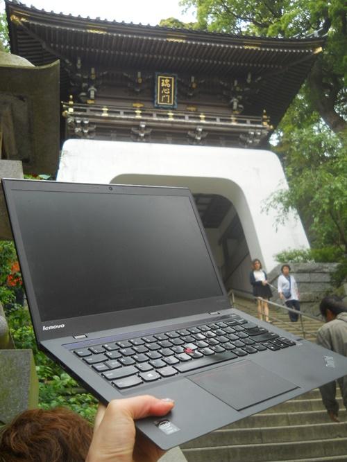 江の島神社とThinkPad X1 Carbon