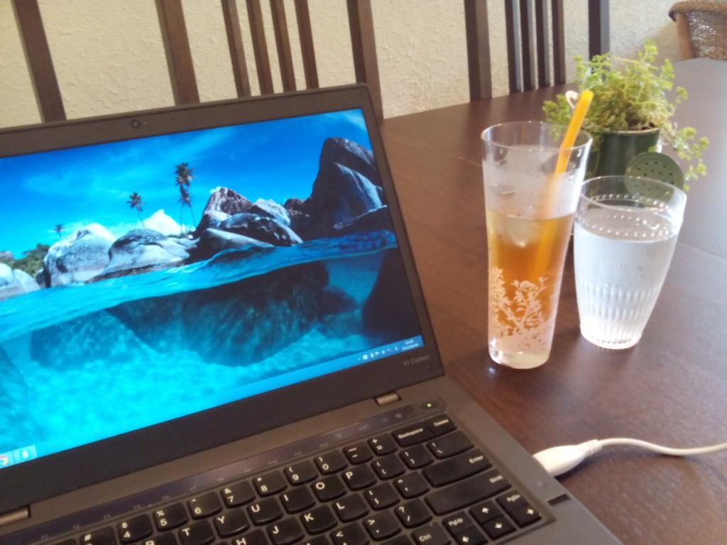 ThinkPad X1 Carbonとお出かけ。麻布十番MunniさんでPC作業