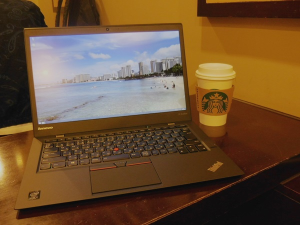 スタバでThinkPad X1 Carbon 2015