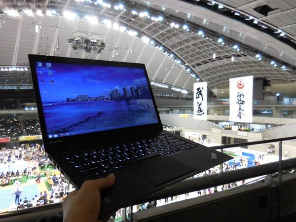 X1 Carbon 極真空手大会でワードプレス講座