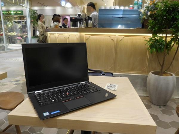 アトレ恵比寿西館にオープンした猿田彦珈琲にてThinkPad X1 Carbon 2016 とコーヒータイム