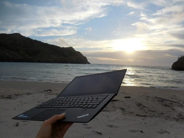 ThinkPadX1Carbonはタフで軽いのがうれしい♪