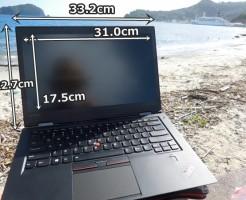 ThinkPad x1 carbon 2016の液晶画面や外回りの寸法を実測!